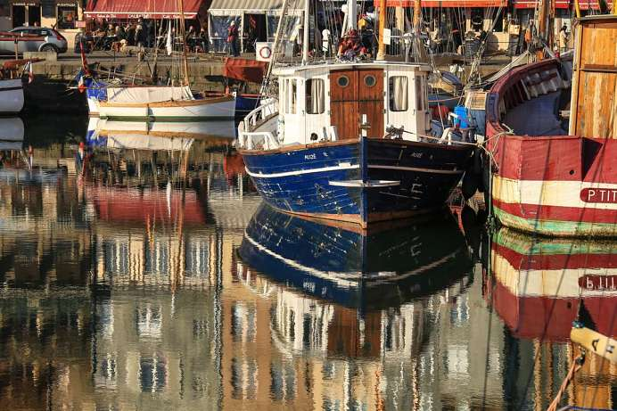 Picturesque harbor town: Honfleur
