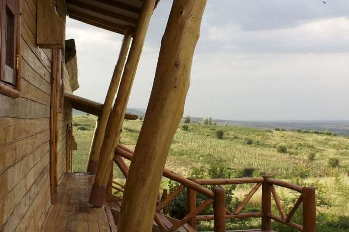 Am Parkeingang: Marafiki Safari Lodge