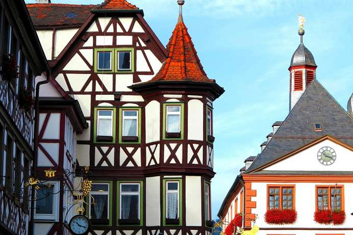 Magnificent half-timbered buildings: Lohr am Main
