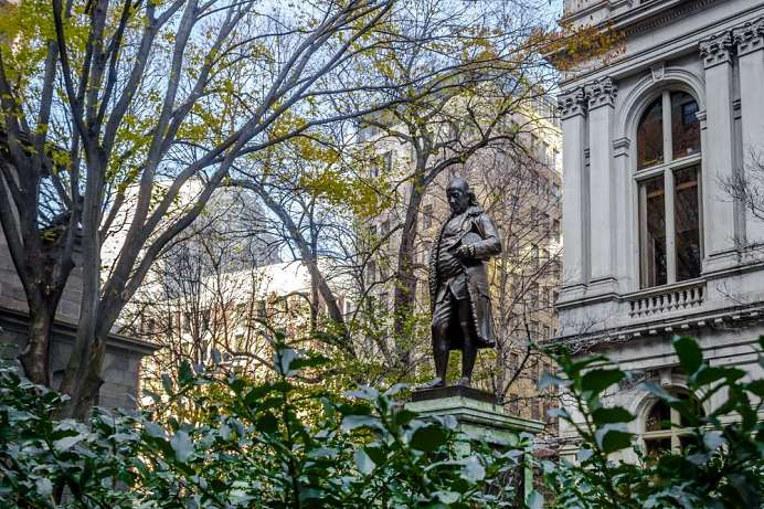 Am Freedom Trail: Statue von Benjamin Franklin