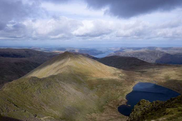 And to the north Scotland: Hellvellyn