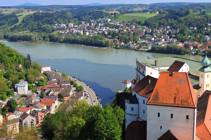 Best view of Passau: Veste Oberhaus