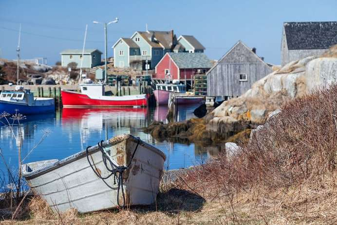 Small Village Peggy`s Cove