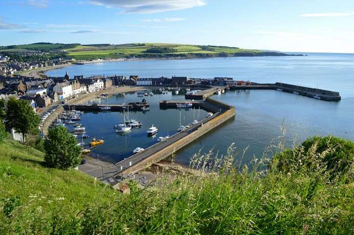 Idyllic starting point of the tour: Stonehaven