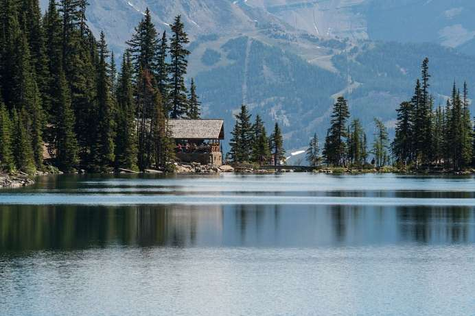 Lake Agnes: Rast im Tea House