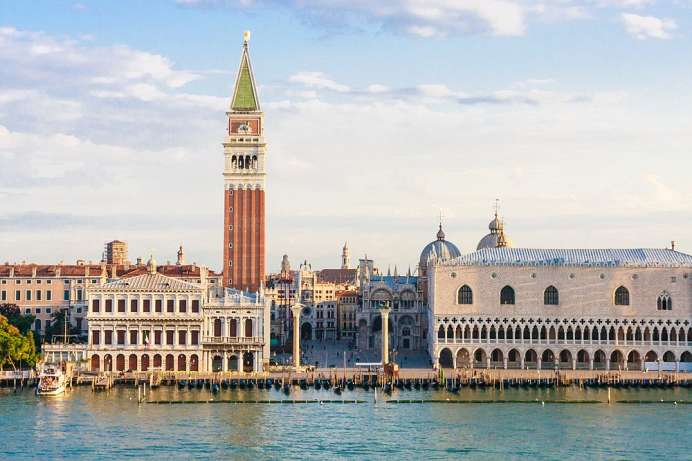 Great panoramic views across Venice: Campanile San Marco