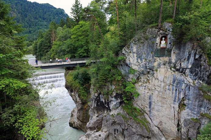 Thundering emergence from the Alps: Lechfall