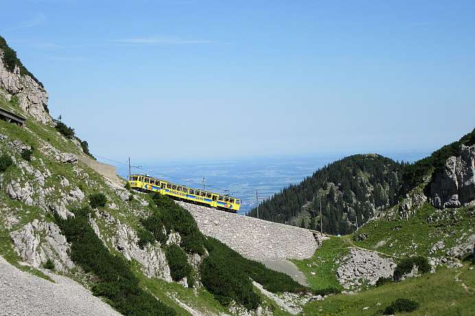 With the cog railway on the Wendelstein