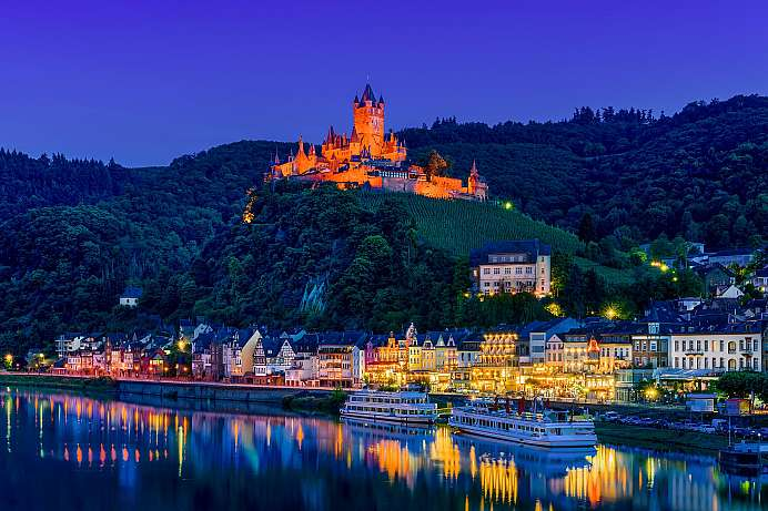 High above Cochem: the Reichsburg