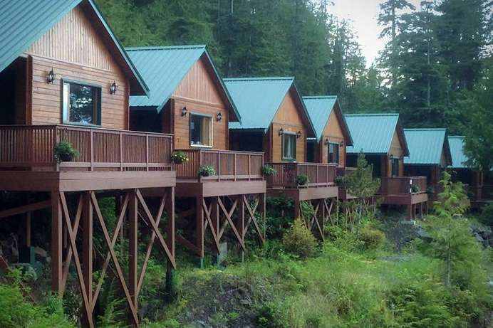 Gute Lage: Cottages bei Port Hardy