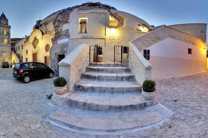 In den Felsen gehauen: Boutique-Hotel in Matera