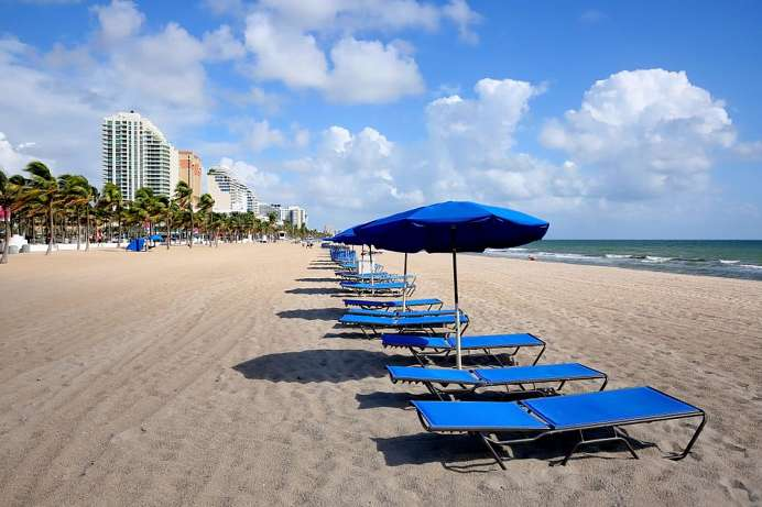 Baden im Winter: Fort Lauderdale