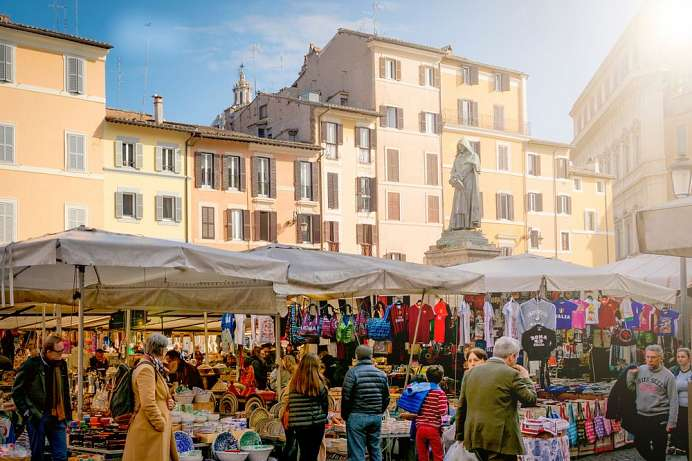A feast for the senes: Campo de' Fiori
