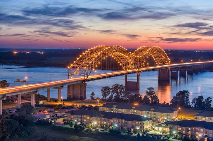 Am Mississippi: Memphis, Tennessee