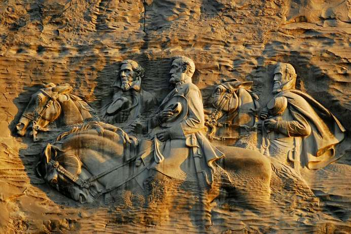 Umstrittenes Denkmal: Stone Mountain Relief