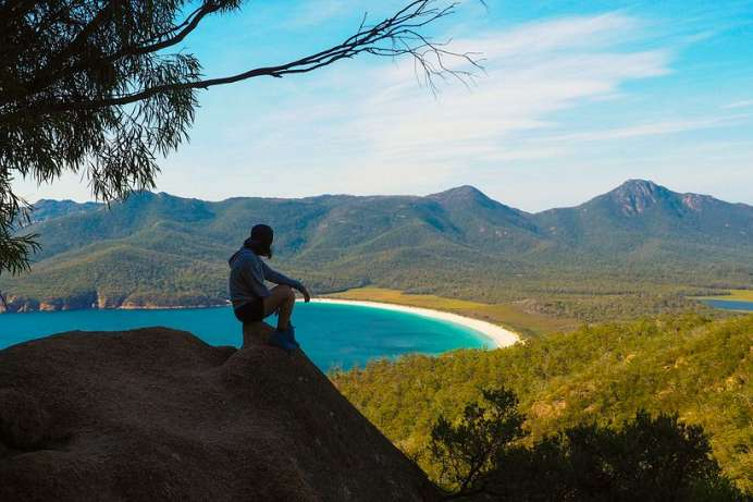 Tolle Ausblicke: Wineglass Bay