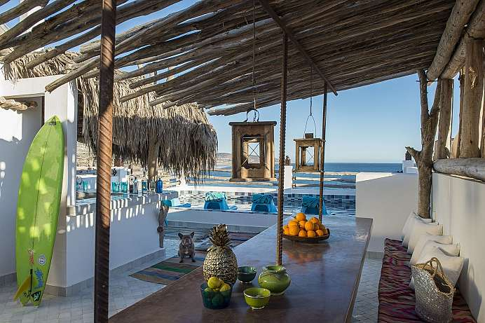 Dachterrasse mit Pool: Boutique Hotel in Taghazout