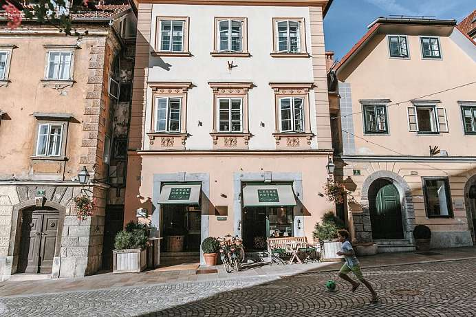 Mitten in der Altstadt: Boutique-Hotel in Ljubljana