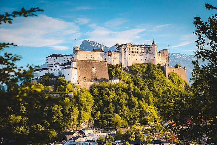 High above the city: Hohensalzburg Fortress