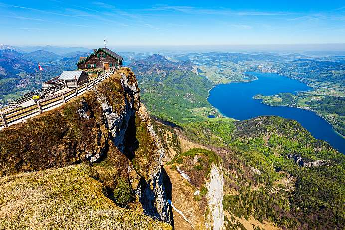 The Salzkammergut at your feet: Schafberg