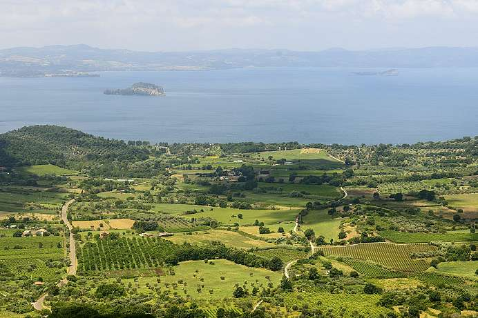 Hardly touched by tourism: Bolsena Lake