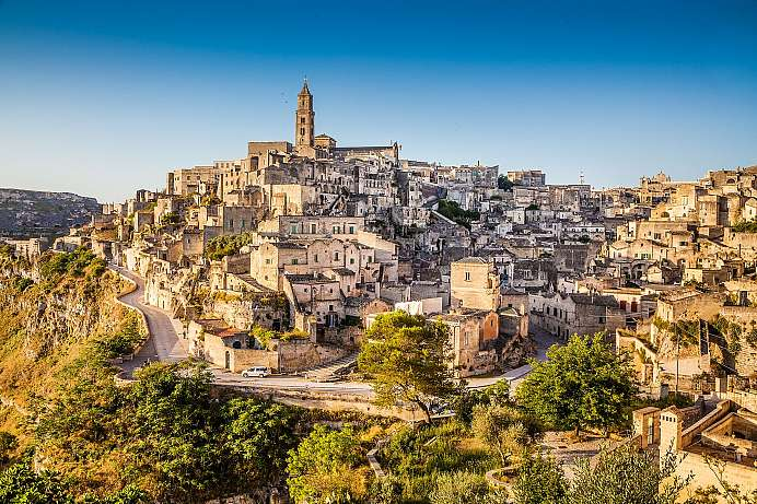 City of cave dwellings: Matera