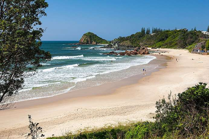 Badebucht bei Port Macquarie