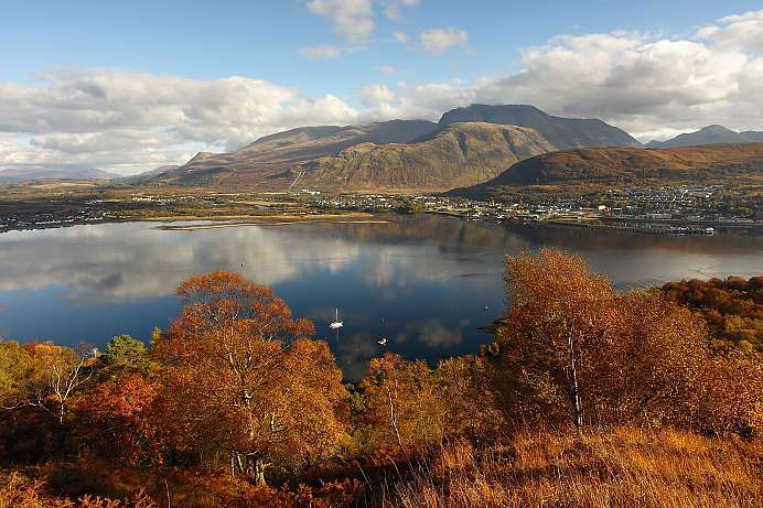 Ben Nevis: On clear days, you can see as far as 240 km