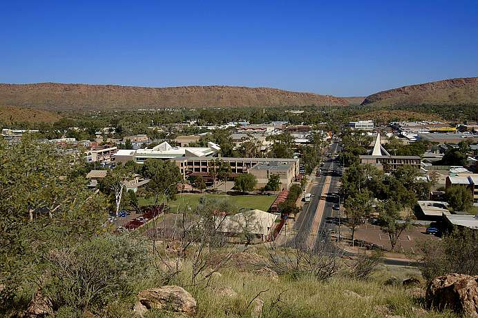 Alice Springs: in the middle of nowhere