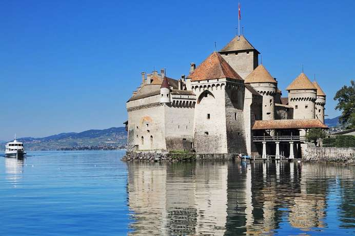 Chateau Chillon am Genfer See