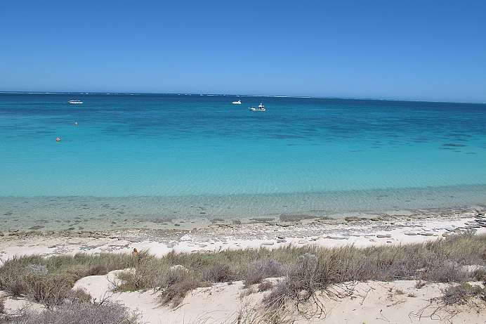 Ningaloo Reef: Boote bei Coral Bay