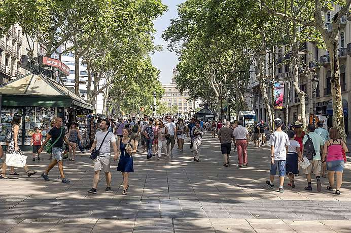 The heart of Barcelona: the Rambles