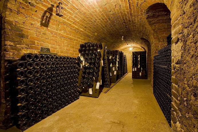 A champagne cellar in Epernay: Moet & Chandon