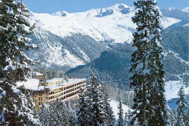 Can only be reached by train: A grand hotel above Davos