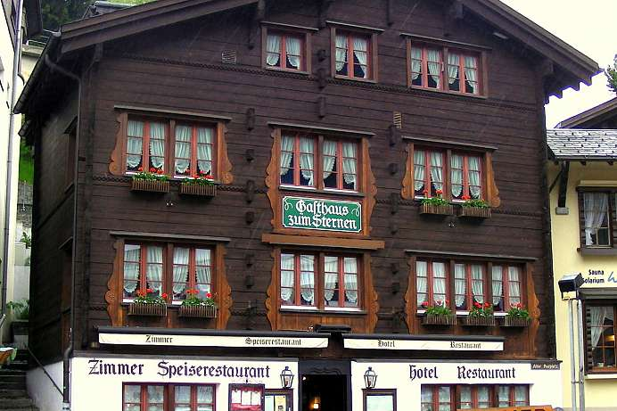 Traditional mountain inn: A Gasthaus in Andermatt