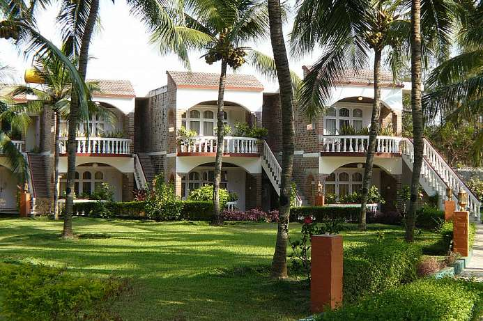 Im Park am Strand Beach Resort bei Mahabalipuram