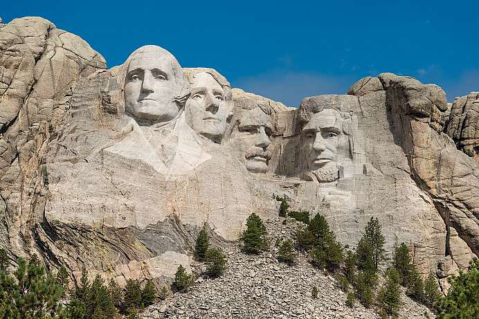 In den Black Hills: Mount Rushmore