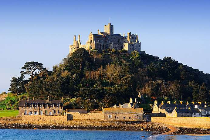 Monastery on a tidal island: St. Michael's Mount
