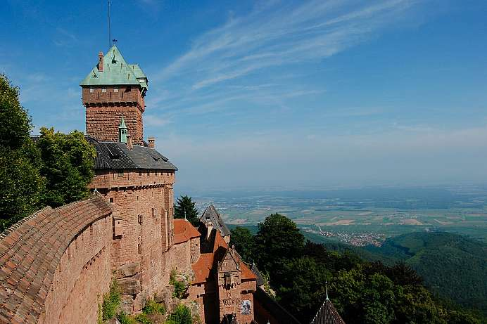 Phenomenal views of the Upper Rhine: Haute Koenigsbourg