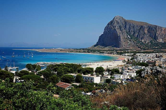 Turquoise sea, white sand: Beach of San Vito Lo Capo