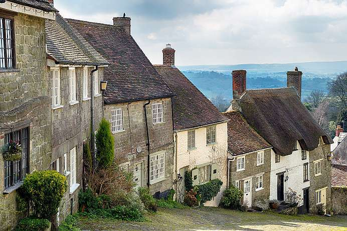 Romantischer Flecken: Golden Hill von Shaftesbury