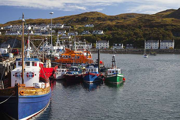 At the end of the scenic road: Fishing port of Mallaig
