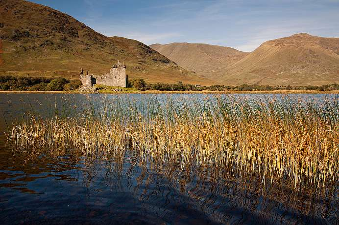 Beautiful setting: Kilchurn Castle on Loch Awe