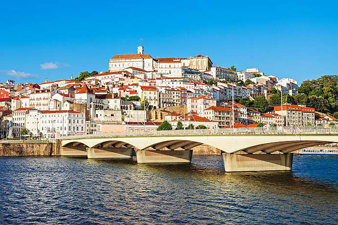 Scenic old town: University town of Coimbra