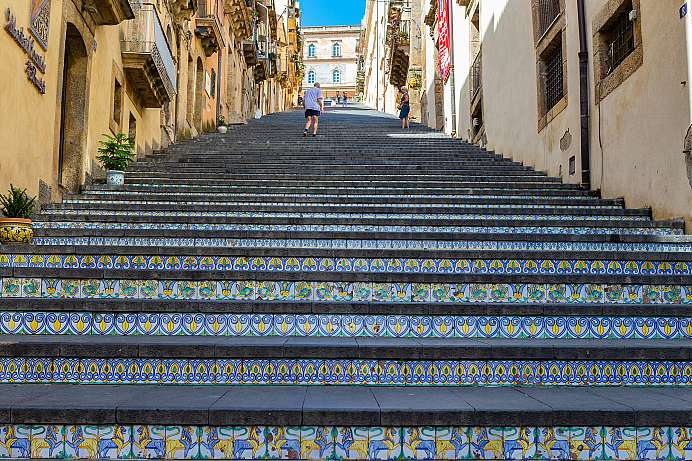 Ceramic staircase from 1608: Caltagirone