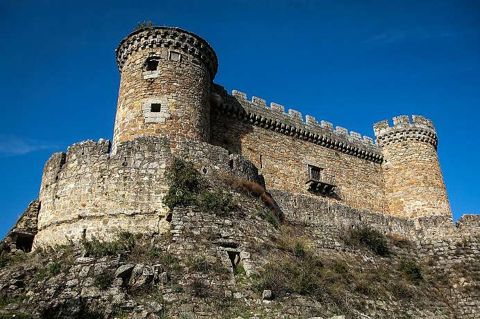 Castle of Mombeltrán in the Sierra de Gredos