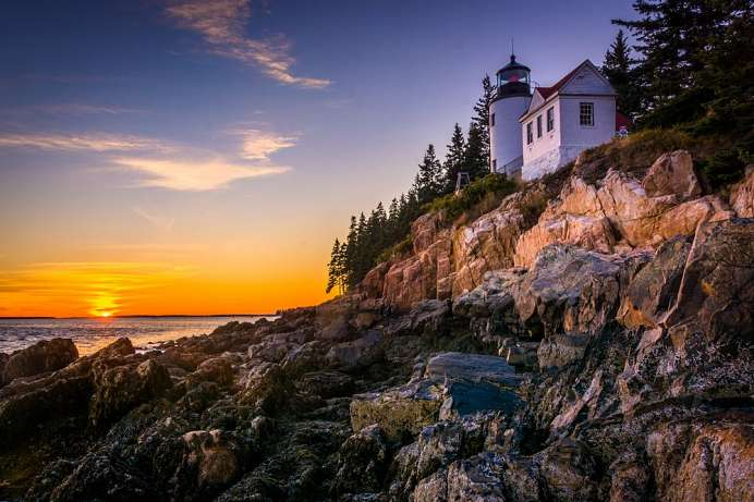 Bass Harbor Lighthouse im Acadia National Park