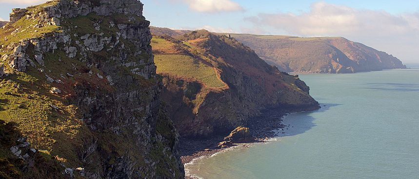 Moorland and cliffs: Exmoor National Park