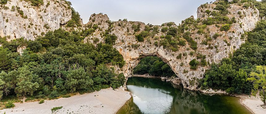 Natural bridge across the Ardeche: Pont d'Arc