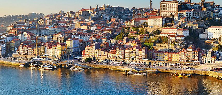 Built up the hill on terraces: Porto's Old Town